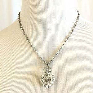 Juicy Couture Silver Crystal Heart Necklace
